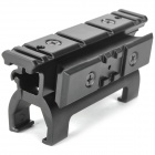 Aleación de aluminio Fishbone Gun Sight Scope Mount Base para MP5 - Negro