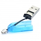 USB 2.0 TF Card Reader w / Alça - Azul