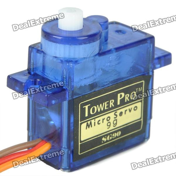 9G Mini Servo with Accessories (Translucent Blue)