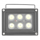 6W 600-Lumen 6500K Cool White Light 6-LED Lamp - Black (AC 85~265V)