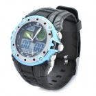 Sports Diving Wrist Watch w/ EL Backlit / Week / Stopwatch / Alarm Clock - Black + Blue (1 x CR2016)