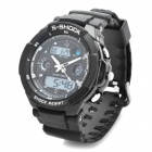 Sports Diving Wrist Watch w/ EL Backlit / Week / Stopwatch / Alarm Clock - Black + (1 x CR2016)