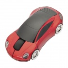 Porsche Car Style 2.4GHz Wireless Mouse with USB Receiver - Black + Red (2 x AAA)