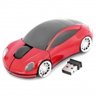 Car Style 2.4GHz Wireless Mouse with USB Receiver - Black + Red (2 x AAA)