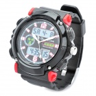 Sports Diving Wrist Watch w/ EL Backlit / Week / Stopwatch / Alarm Clock - Black + Red (1 x CR2016)