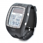Sports Solar Power Diving Wrist Watch w/ EL Backlit/Week/Stopwatch/Alarm Clock - Black (1 x CR2025)