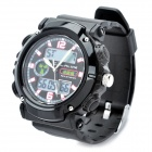 Sports Diving Wrist Watch w/ EL Backlit / Week / Stopwatch / Alarm Clock - Black (1 x CR2016)
