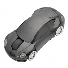 Porsche Car Style 2.4GHz Wireless Mouse with USB Receiver - Black (2 x AAA)