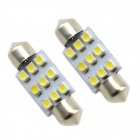 35mm 0.18Wx9 White Light 9-SMD 5050 LED Car Reading Light (DC 12V / Paar)