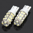 T10 0.18Wx27 White Light 27-SMD 5050 LED Car Reading Light (DC 12V / Pair)