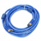 Gold-plated VGA Male to Male Connection Cable - Transparent Blue