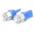 T10 0.18Wx5 Blue Light 5-SMD 5050 LED Car Reading Light (DC 12V / Pair)