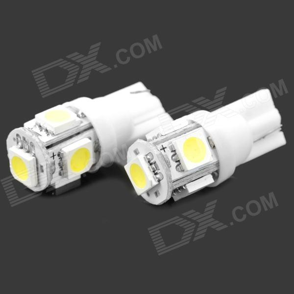 0.18W 10-12LM 6000-7000K 3000-3500MCD 5-LED Car Width Lamp Sidelight (60mA/12V)LED Wedge Bulbs<br>Material:ALGalnPEmitter Type:LEDTotal Emitters:5Power:0.18WColor BIN:WhiteRated Voltage:12VWorking current:60mAWave length: 450-457.5nmLuminous Flux:10-12LMBrightness:   3000-3500MCDColor Temperature:6000K-7000KApplication:Car width light/sidelight<br>