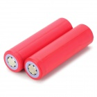 Genuine SANYO 18650 3.7V 2600mAh Rechargeable Battery - Red (Pair)
