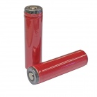 Genuine SANYO 18650 2600mAh Rechargeable Battery with Protection Board - Red (Pair)