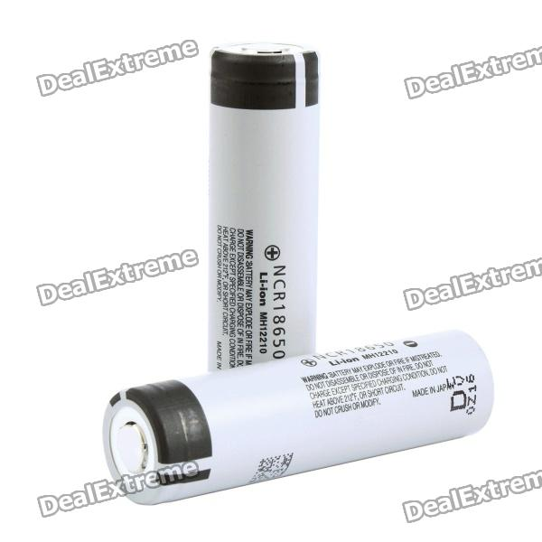 цена на Genuine Panasonic 18650 3.7V 2900mAh Rechargeable Battery - Grey (Pair)