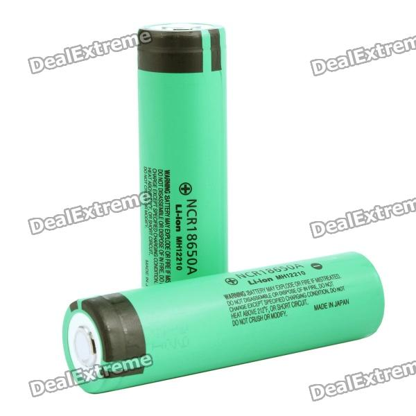 цена на Genuine Panasonic 18650 3.7V 3100mAh Rechargeable Battery - Green (Pair)