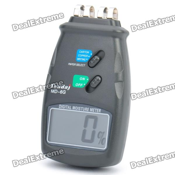 2.2 LCD Digital Paper Moisture Meter Tester - Dark Grey (1 x 9V/6F22) mc 7806 digital moisture analyzer price with pin type cotton paper building tobacco moisture meter