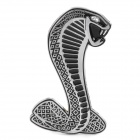 Cobra Style Car Decorative Sticker - Silver + Black