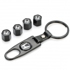 Honda Logo Car Tire Valve Caps - Black (4-Pack)