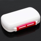6-Cells Medicine Pill Storage Box Case - White