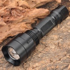 NEW-C81 Cree Q5 5-Mode 370LM White Zoom Convex Lens Rechargeable LED Flashlight (1 x 18650)
