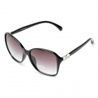 Fashion Bowknot UV 400 Protection Resin Lens Sunglasses - Black