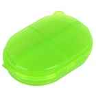 PP Plastic Pocket Pills/Gadgets Organizer Container Box - Green (5-Grid)