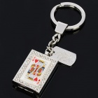 Playing Card Heart-K Style Zinc Alloy USB Flash Driver w/ Keychain (4GB)