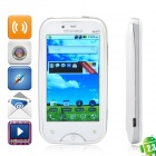 "A6000 Android 2.3 GSM TV Smartphone w/ 3.2"" Resistive, Dual SIM, Wi-Fi and GPS - White + Silver"