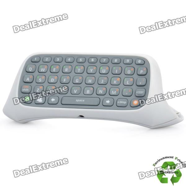 Refurbished 47-Key Keyboard for Xbox 360 Controller - Grey + White