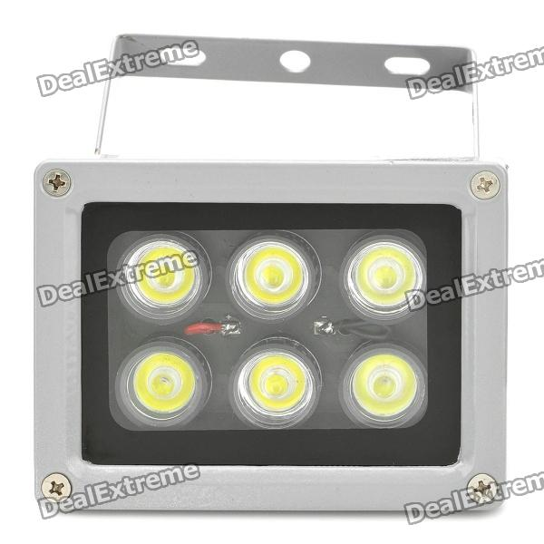 6W 600-Lumen 6500K Cool White Luz 6 LED Lamp - Prata (AC 85 ~ 265V)