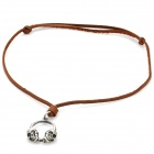 Fashion Cool Punk Style Pendant Necklace - Silver Grey + Brown (Skull Headset Theme)