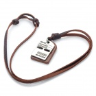 Fashion Cool Punk Style Pendant Necklace - Brown + Silver Grey (Dual-plate Theme)