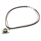Fashion Cool Punk Style Pendant Necklace - Bronze + Brown (Retro Camera + Dual Chain Theme)