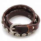 Fashion Cool Punk Style Cowhide Bracelet - Brown (Five-pointed Star Theme)