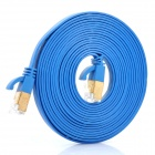 High Speed Power Sync Cat6a 32AWG RJ45 to RJ45 Flat Network Cable - Blue (3M-Cable Length)