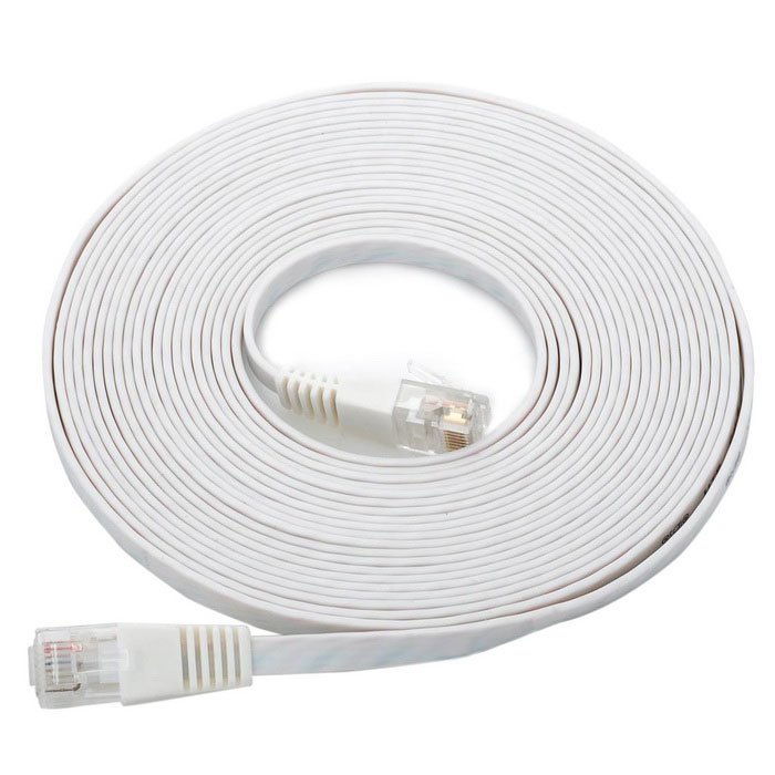 Cat.6 RJ-45 Ultra Flat LAN Network Cable - White (5M)
