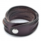 Fashion Cool Punk Style Cowhide Bracelet - Brown (Multilayer Coil Theme)