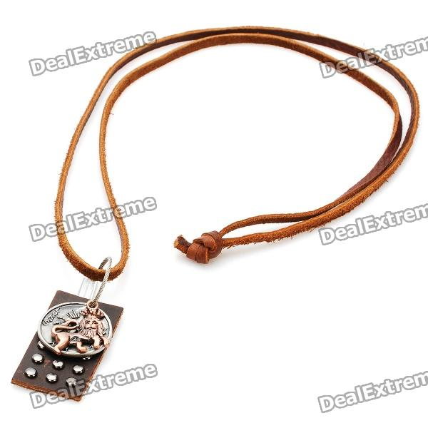 Fashion Cool Punk Style Pendant Necklace (Lion King + Coin + Cross Theme) old antique bronze doctor who theme quartz pendant pocket watch with chain necklace free shipping
