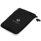 Universal Cotton Fabric Carrying Pouch for Motorola - Black