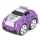 49MHz 4-CH R/C Remote Control 360 Degree Revolving Stunt Car Toy with Light Effects - Purple