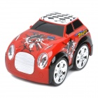 49MHz 4-CH R/C Remote Control 360 Degree Revolving Stunt Car Toy with Light Effects - Red