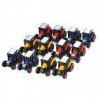 Pull Back Farmer Tractor Model Toy Car with Hook (12-Piece)
