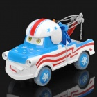 Cars Tow Truck Toy Car with Sound & Light Effects - Blue + White (3 x AA)