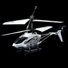 Iphone Controlled Rechargeable 3.5-CH IR R/C Helicopter w/ Remote Controller - Black + White