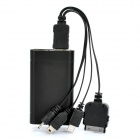 1700mAh External Mobile Emergency Power Charger with 4-in-1 Adapters Cable & 2-LED White Light