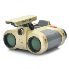 JYW-1226 Binoculars Telescope with Pop-up Spotlight - Golden (4 x 30mm)