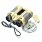 Telescópio JYW-1226 binóculos com pop-up Spotlight - Golden (4 x 30mm)