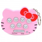 Mini Handheld Whack-A-Mouse Stress Relieving Game Keychain - Pink (2 x AAA)